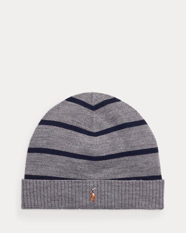 Cuffia in lana merino a righe
