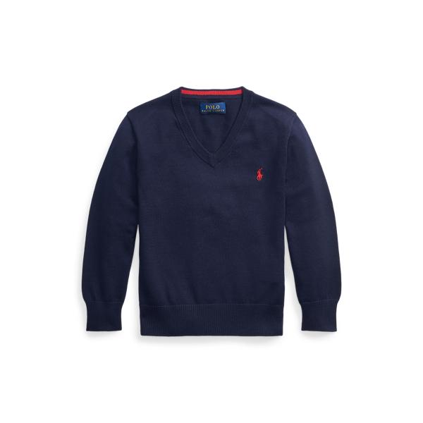 폴로 랄프로렌 남아용 스웨터 Polo Ralph Lauren Cotton V-Neck Sweater,RL Navy