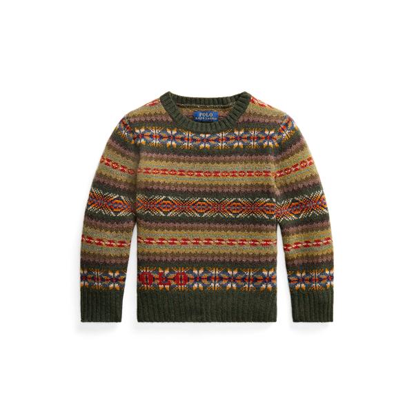 폴로 랄프로렌 Polo Ralph Lauren Logo Fair Isle Wool Sweater,Multi