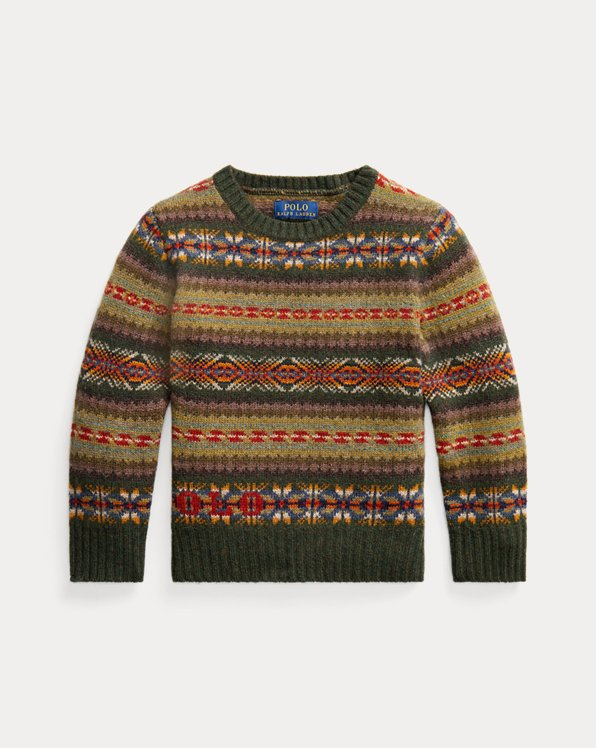 Logo Fair Isle Wool Sweater
