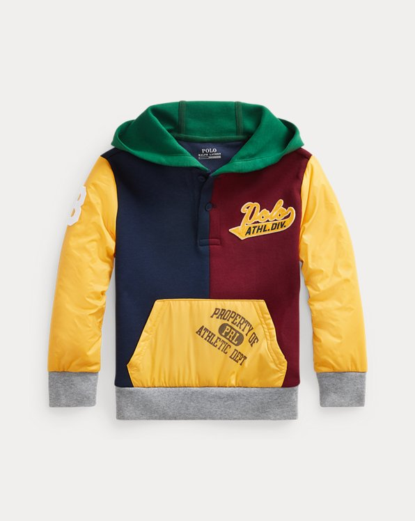 Colour-Blocked Hybrid Hoodie