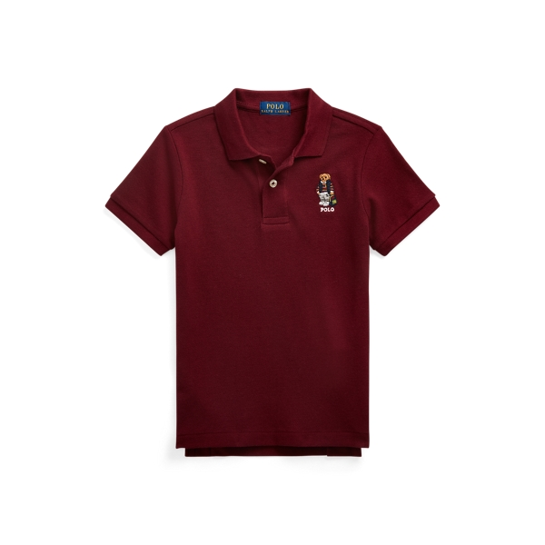 폴로 랄프로렌 남아용 폴로 셔츠 Polo Ralph Lauren Polo Bear Cotton Mesh Polo,Classic Wine
