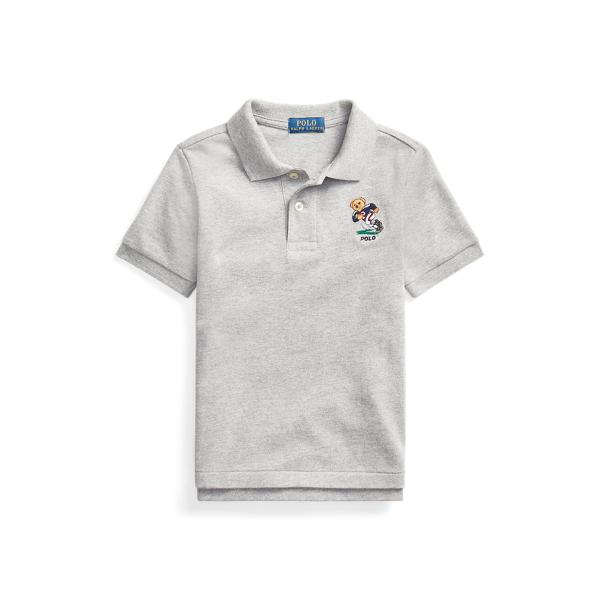 폴로 랄프로렌 남아용 폴로 셔츠 Polo Ralph Lauren Polo Bear Cotton Mesh Polo,League Heather