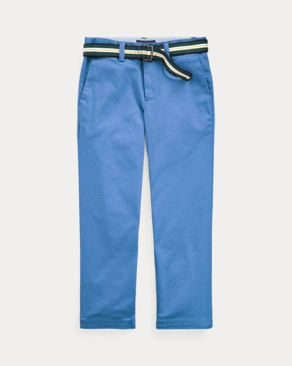 폴로 랄프로렌 남아용 치노 바지 Polo Ralph Lauren Belted Stretch Skinny Chino,New England Blue