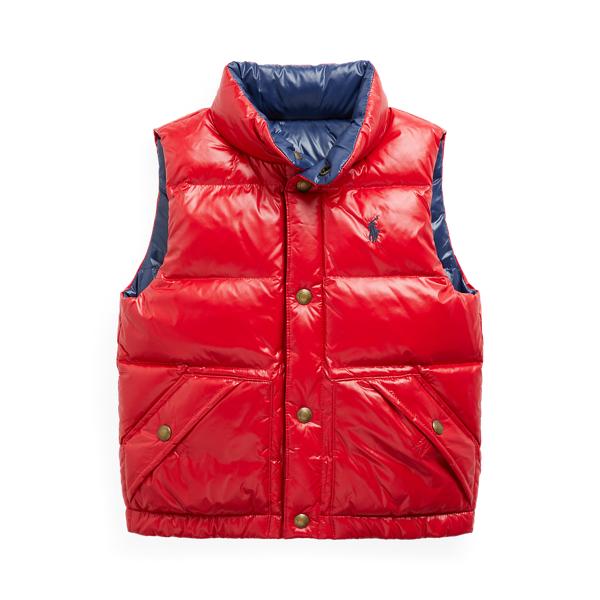 폴로 랄프로렌 남아용 리버서블 오리털 패딩 조끼 - 레드/네이비 (샘 헤밍턴 아들 벤틀리 착용) Polo Ralph Lauren Reversible Down Vest