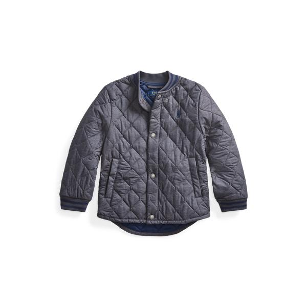 폴로 랄프로렌 남아용 퀼팅 자켓 Polo Ralph Lauren Water-Resistant Quilted Jacket,Mechanic Grey