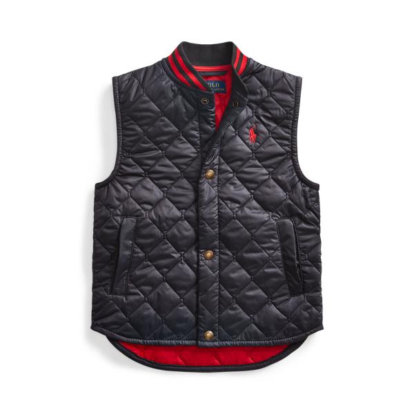 폴로 랄프로렌 남아용 퀼팅 조끼 Polo Ralph Lauren Water-Resistant Quilted Vest,Polo Black