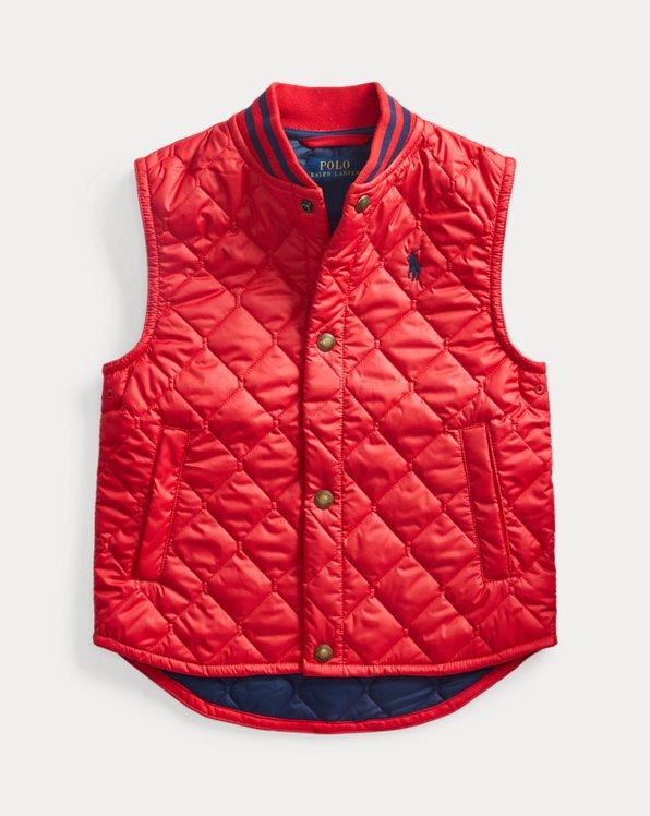 폴로 랄프로렌 남아용 조끼 Polo Ralph Lauren Water-Resistant Quilted Vest,RL 2000 Red