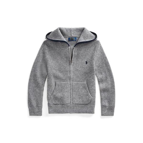 폴로 랄프로렌 남아용 스웨터 Polo Ralph Lauren Cashmere Full-Zip Sweater,Grey Heather