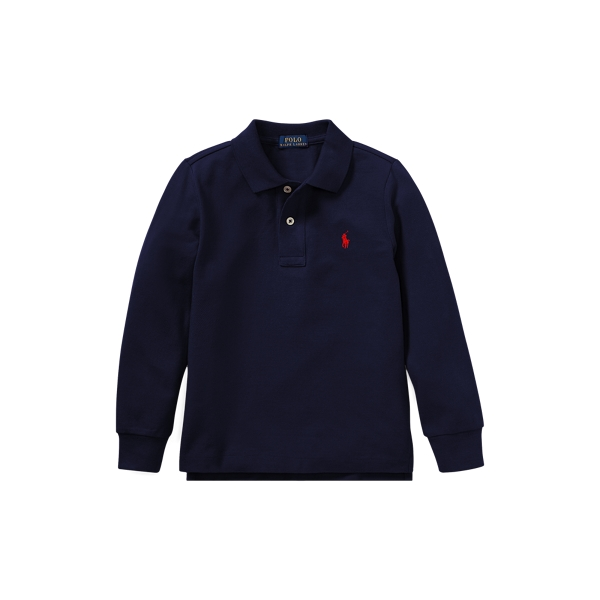 폴로 랄프로렌 남아용 폴로 셔츠 Polo Ralph Lauren Cotton Mesh Long-Sleeve Polo,French Navy