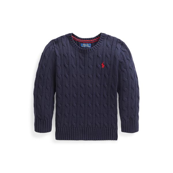 폴로 랄프로렌 Polo Ralph Lauren Cable Knit Cotton Sweater,RL Navy