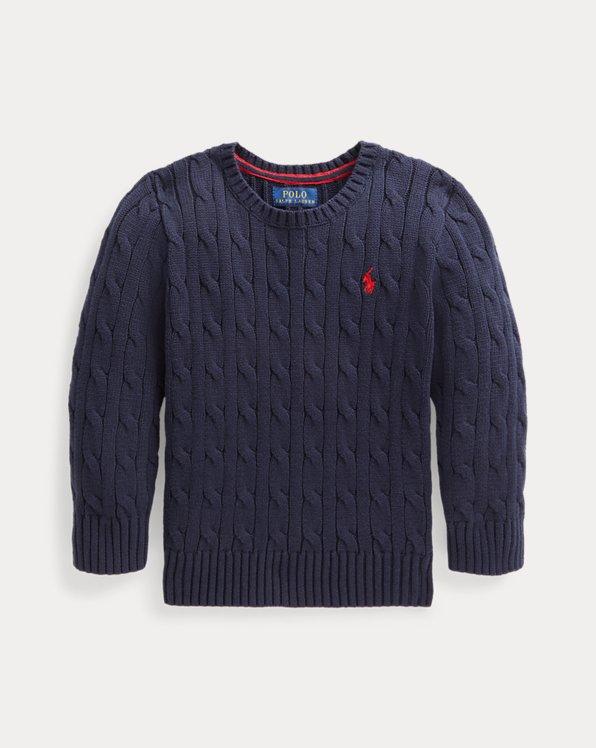 폴로 랄프로렌 남아용  꽈배기 스웨터 Polo Ralph Lauren Cable-Knit Cotton Sweater,RL Navy