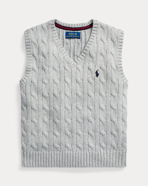 Cable-Knit Cotton Sweater Vest