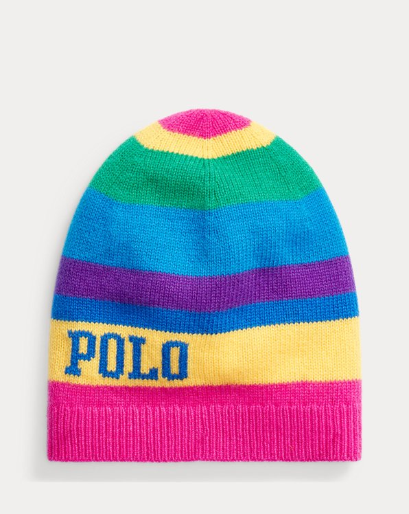 Striped Logo Wool Hat