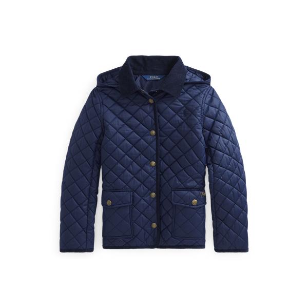 폴로 랄프로렌 걸즈 발수 퀼팅 자켓 - 네이비 Polo Ralph Lauren Water-Resistant Barn Jacket