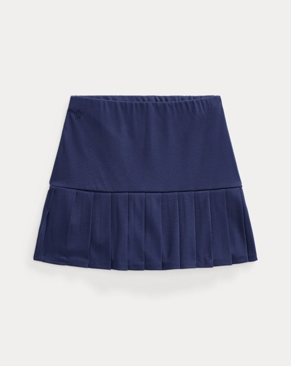 Skort in ponte stretch a pieghe