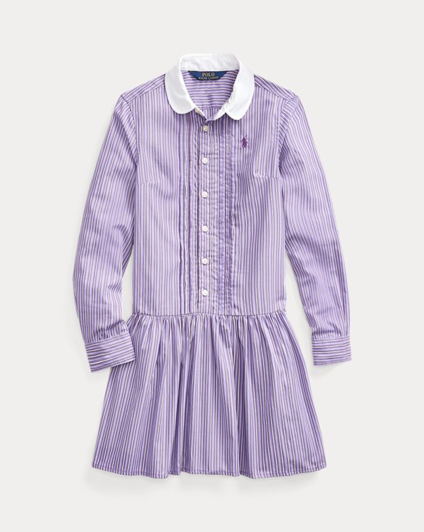 Striped Drop-Waist Shirtdress