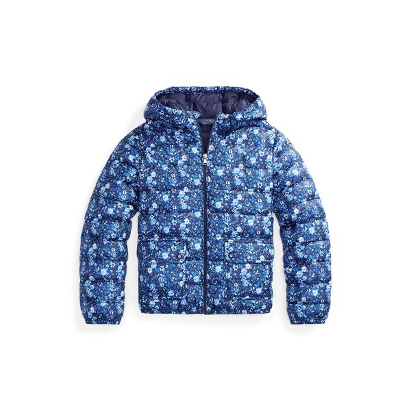 폴로 랄프로렌 걸즈 자켓 Polo Ralph Lauren Floral Water-Resistant Jacket,Navy Floral