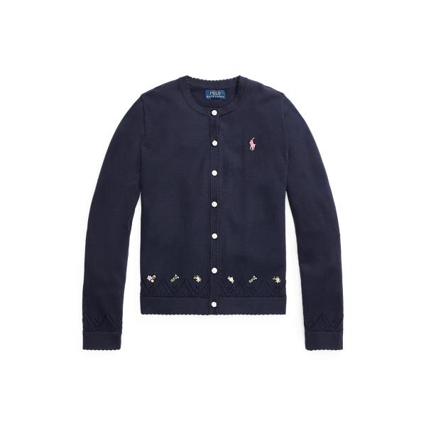 폴로 랄프로렌 Polo Ralph Lauren Embroidered Cotton Cardigan,RL Navy