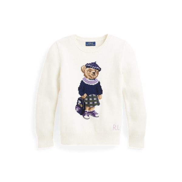 폴로 랄프로렌 Polo Ralph Lauren Preppy Bear Sweater,Clubhouse Cream