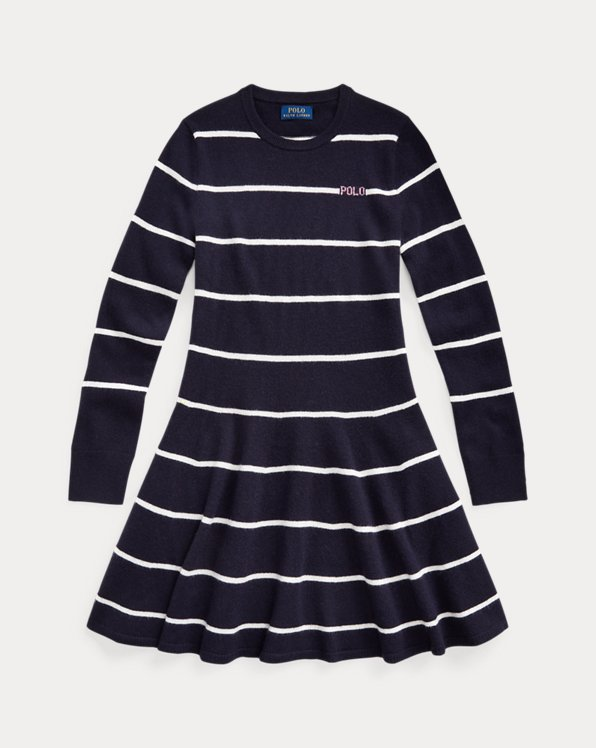 Striped Logo Sweater Dress