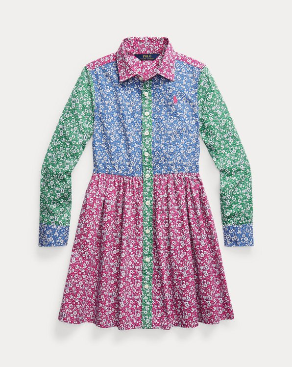 Floral Cotton Fun Shirtdress