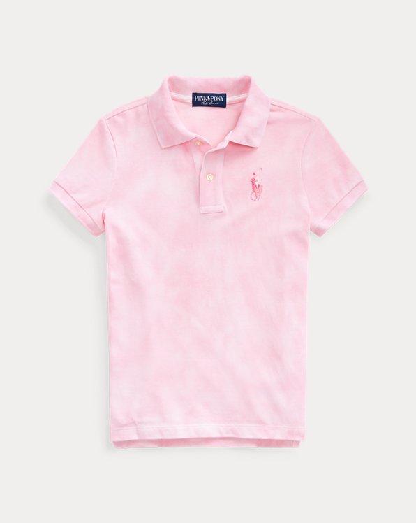 Pink Pony Tie-Dye Mesh Polo