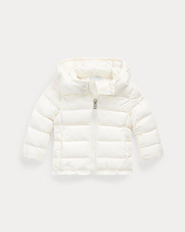Ruffled Hooded Down Jacket