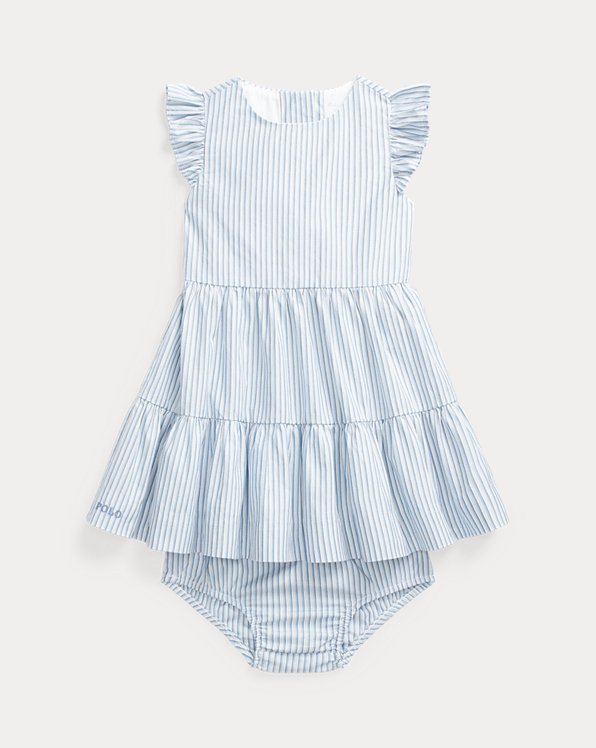 Striped Tiered Dress & Bloomer