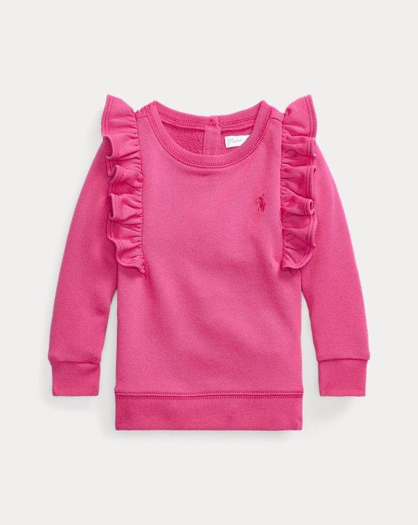 Ruffled French Terry Sweatshirt