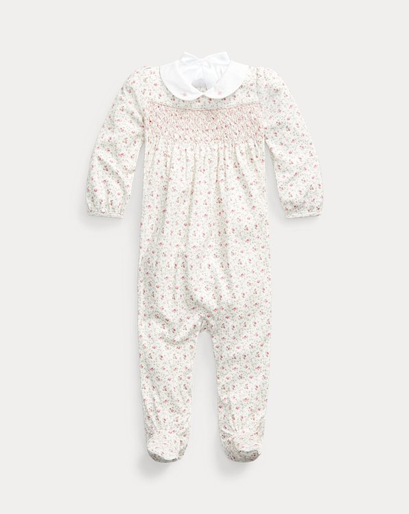 Floral Cotton Footed Coverall