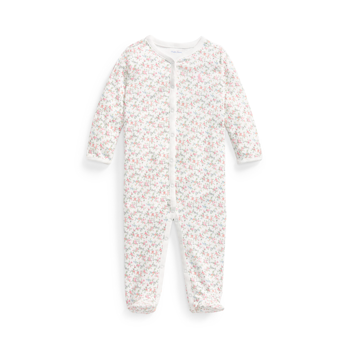 Floral Jersey Footed Coverall