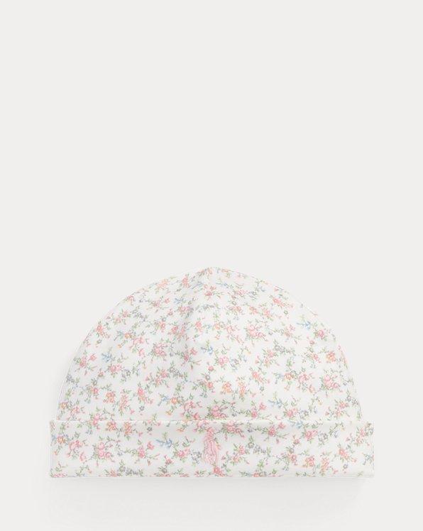Baumwollmütze mit Blumenmuster