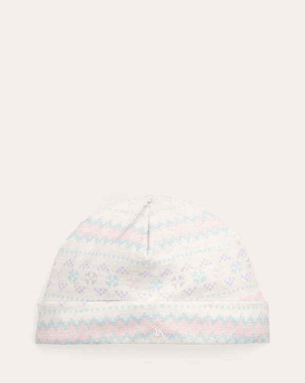 Bonnet en coton à motif Fair Isle