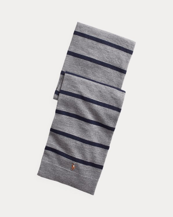 Striped Merino Wool Scarf