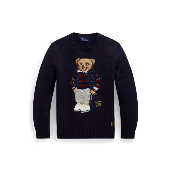 폴로 랄프로렌 Polo Ralph Lauren Polo Bear Cotton-Blend Sweater,RL Navy