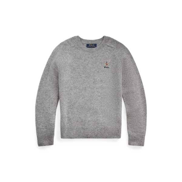 폴로 랄프로렌 보이즈 스웨터 Polo Ralph Lauren Merino-Cashmere Sweater,League Heather