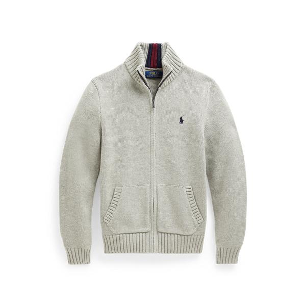 폴로 랄프로렌 Polo Ralph Lauren Cotton Full-Zip Sweater,Dark Sport Heather