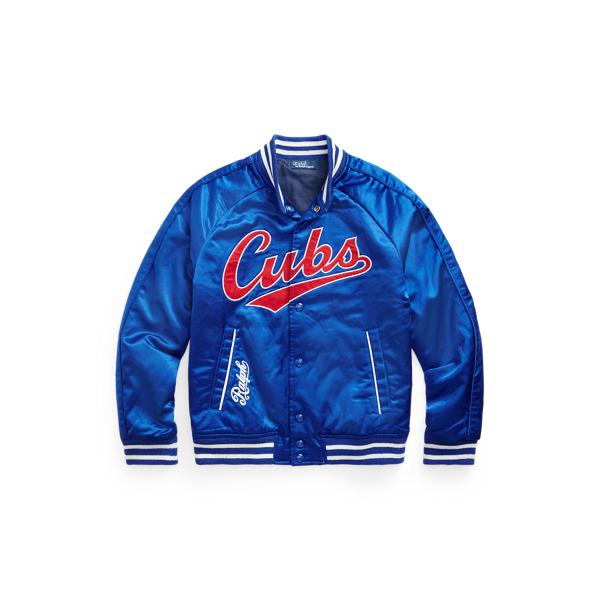 폴로 랄프로렌 Polo Ralph 로렌 랄프로렌 Lauren Ralph Lauren Cubs Jacket,Rugby Royal/Ralph Red