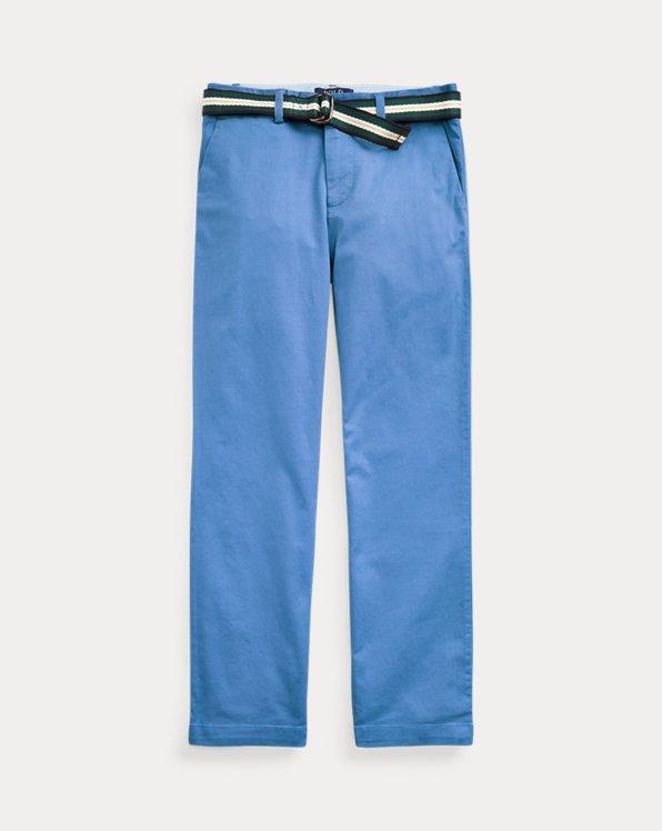 폴로 랄프로렌 보이즈 치노 바지 Polo Ralph Lauren Belted Stretch Skinny Chino,New England Blue