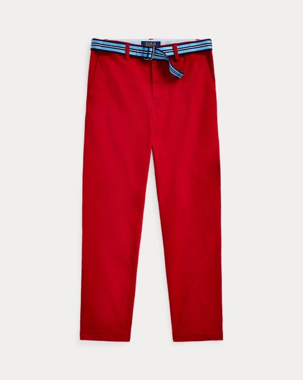 폴로 랄프로렌 보이즈 치노 바지 Polo Ralph Lauren Belted Stretch Skinny Chino,Pioneer Red