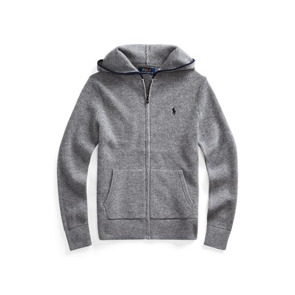 폴로 랄프로렌 Polo Ralph Lauren Cashmere Full-Zip Sweater,Grey Heather