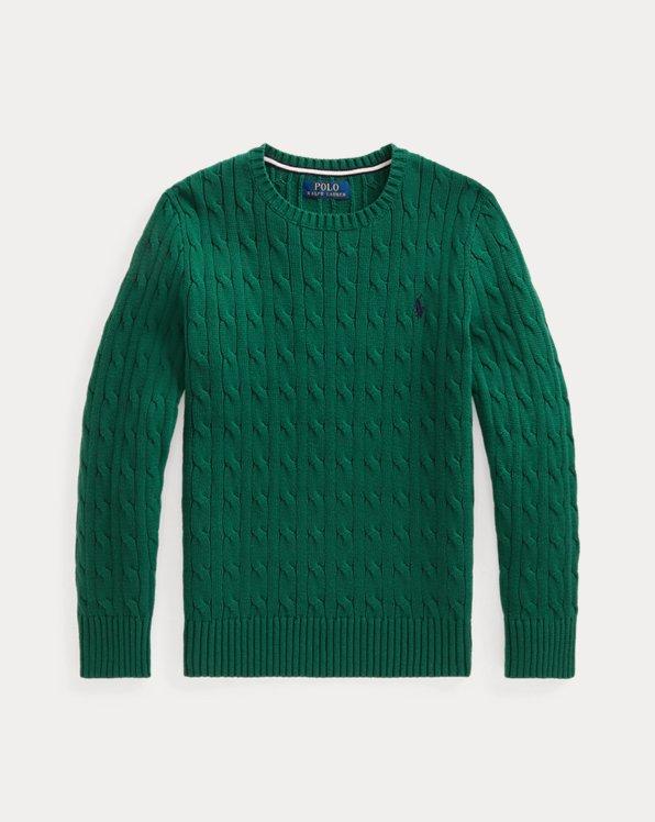 Cable-Knit Cotton Jumper