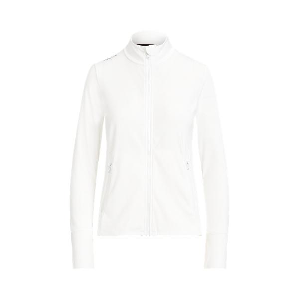 폴로 랄프로렌 Polo Ralph Lauren Stretch Eyelet Full Zip Jacket,Pure White