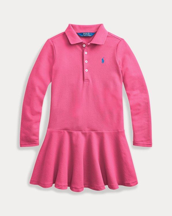 Mesh Long-Sleeve Polo Dress