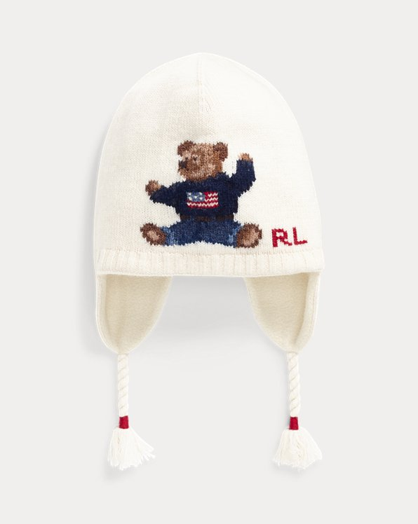 Flag Bear Wool-Blend Earflap Hat