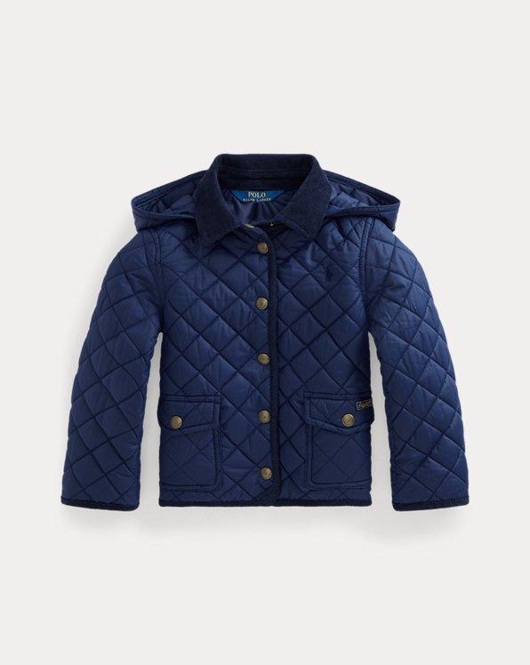 폴로 랄프로렌 여아용 발수 퀼팅 자켓 - 네이비 Polo Ralph Lauren Water-Resistant Barn Jacket 548988