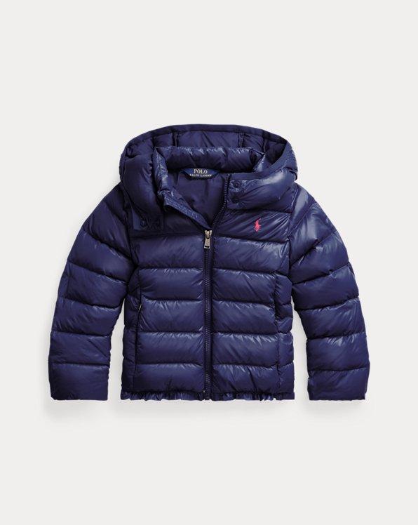 폴로 랄프로렌 여아용 발수 숏패딩 - 네이비 Polo Ralph Lauren Water-Repellent Down Jacket