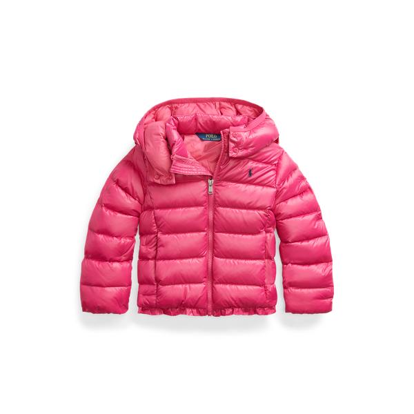 폴로 랄프로렌 여아용 패딩 Polo Ralph Lauren Water-Repellent Down Jacket,College Pink