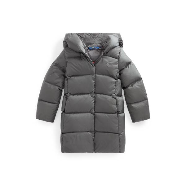 폴로 랄프로렌 여아용 덕다운 롱패딩, 650필 파워 - 그레이 (2020 뉴시즌 신상 컬러) Polo Ralph Lauren Quilted Hooded Down Coat